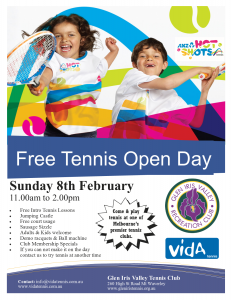 Glen Iris Tennis Open Day Feb 2015