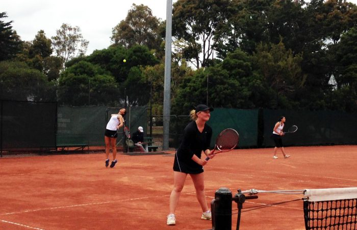 Jamiee Fourlis & Eliza Long in Round 4 action