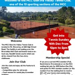 MCC Glen Iris Valley Tennis Club Information Dec 2018