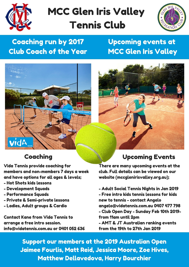MCC Glen Iris Valley Tennis Club Information Dec 2018 page 2)