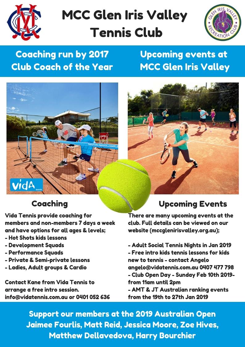 MCC Glen Iris Valley Tennis Club Information Dec 2018 page 2)