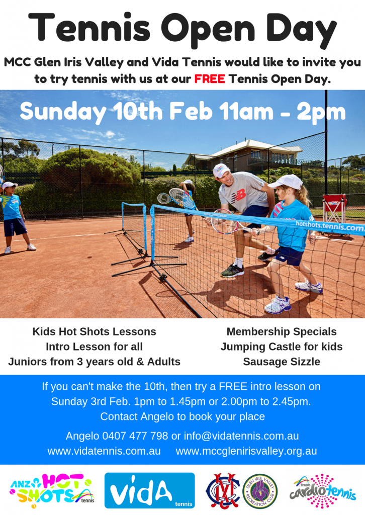 Open Day MCC Glen Iris Tennis Club 2019