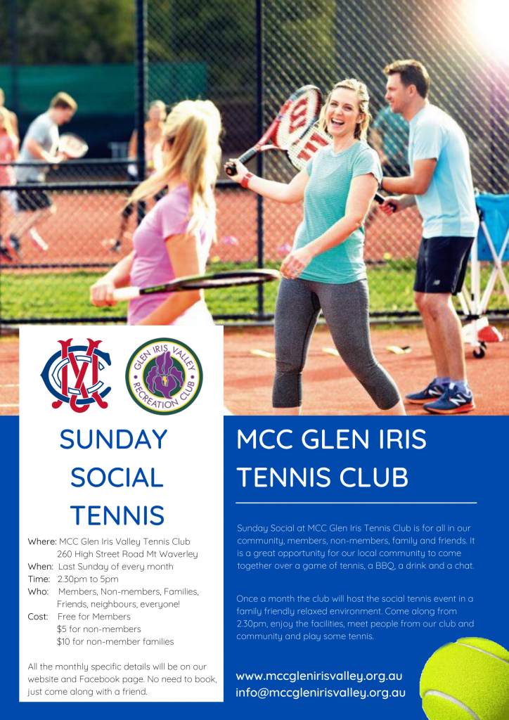 Sunday Social - MCC Glen Iris